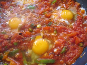 cooking in israel, shakshouka