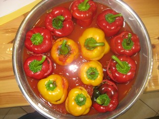 cooking in israel, israeli recipes, stuffed peppers